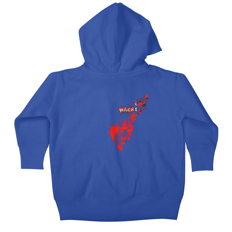 WACK 90.1fm Falling in Love - All Hearts and WACK Logo Kids Baby Zip-Up Hoody by WACK 90.1fm Merchandise Store