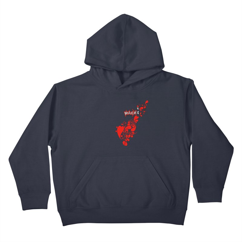 WACK 90.1fm Falling in Love - All Hearts and WACK Logo Kids Pullover Hoody by WACK 90.1fm Merchandise Store