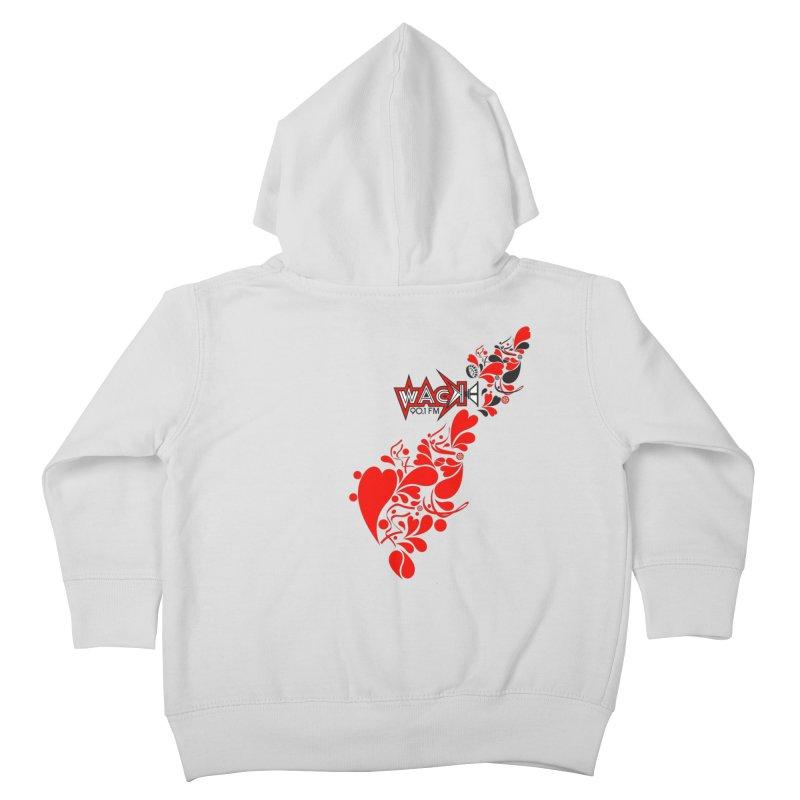 WACK 90.1fm Falling in Love - All Hearts and WACK Logo Kids Toddler Zip-Up Hoody by WACK 90.1fm Merchandise Store