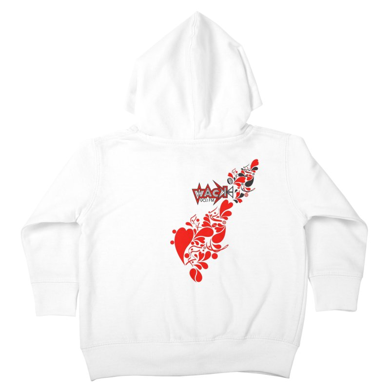 WACK 90.1fm Falling in Love - All Hearts and WACK Logo Kids Toddler Zip-Up Hoody by WACK 90.1fm Merchandise Store