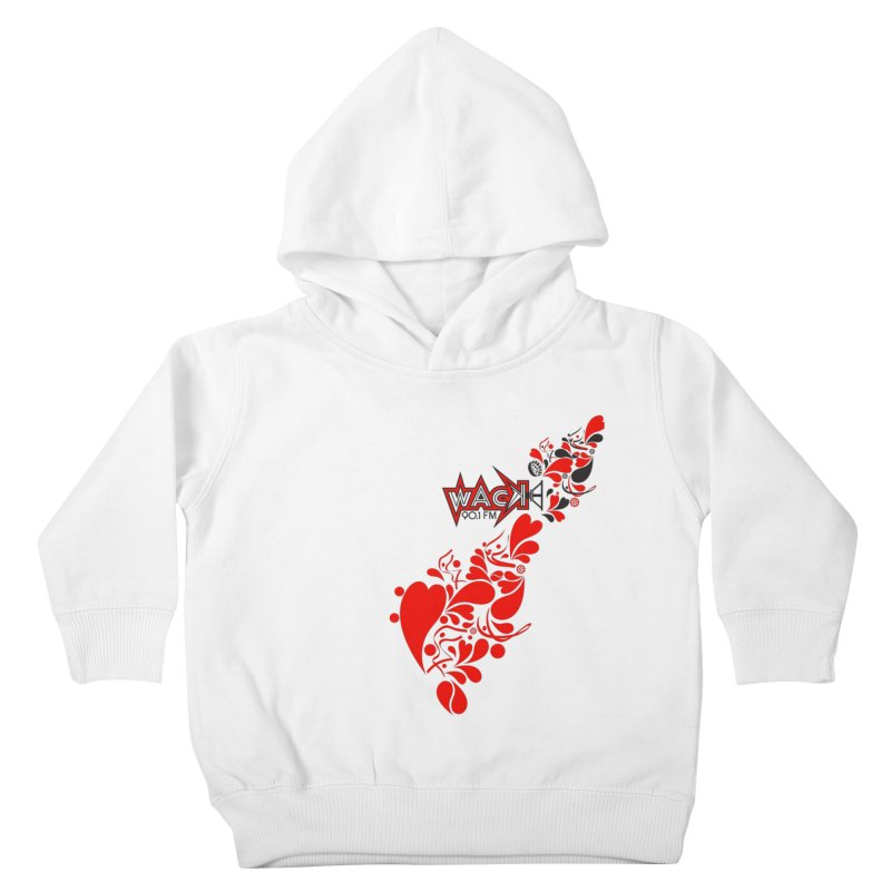 WACK 90.1fm Falling in Love - All Hearts and WACK Logo Kids Toddler Pullover Hoody by WACK 90.1fm Merchandise Store