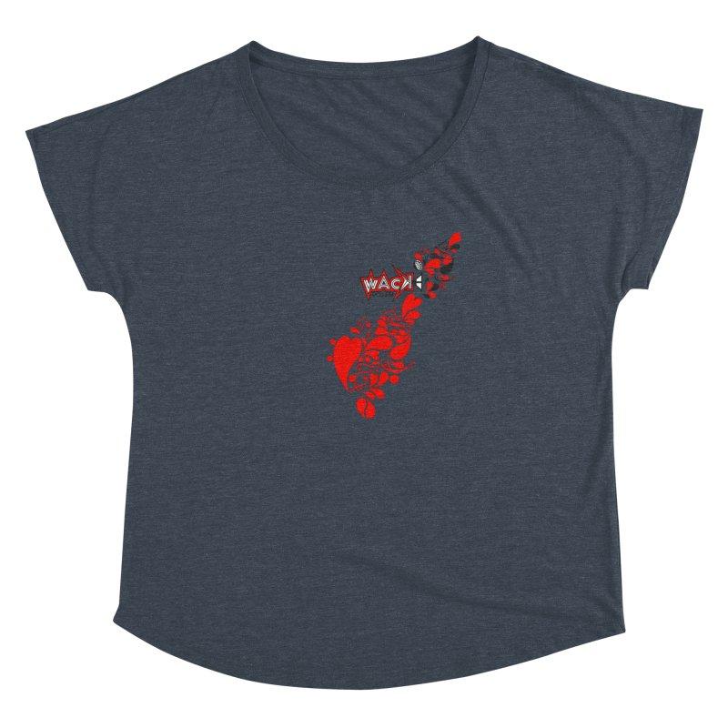 WACK 90.1fm Falling in Love - All Hearts and WACK Logo Women's Dolman Scoop Neck by WACK 90.1fm Merchandise Store