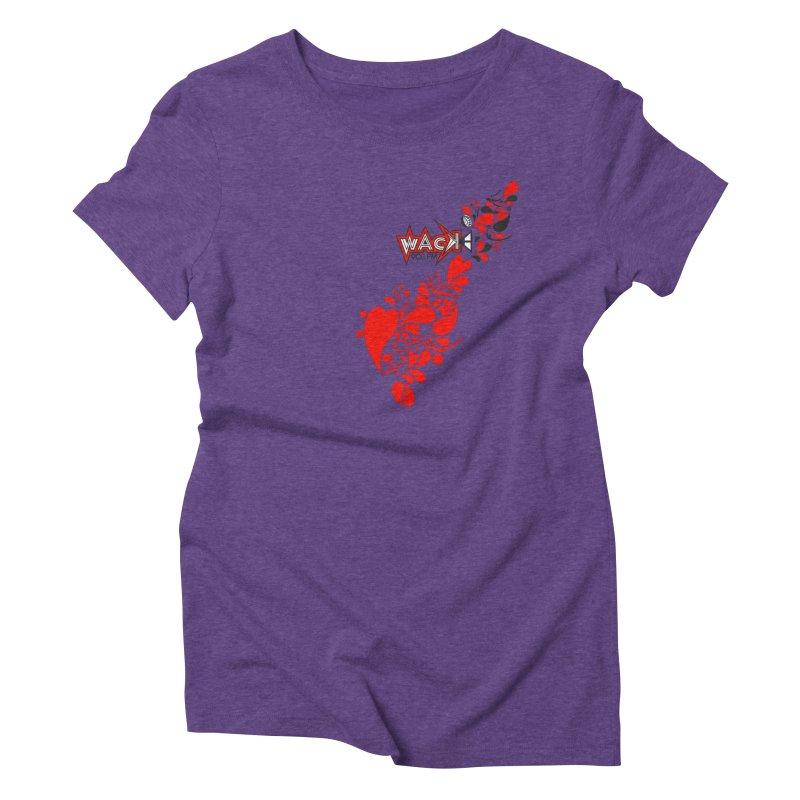 WACK 90.1fm Falling in Love - All Hearts and WACK Logo Women's Triblend T-Shirt by WACK 90.1fm Merchandise Store
