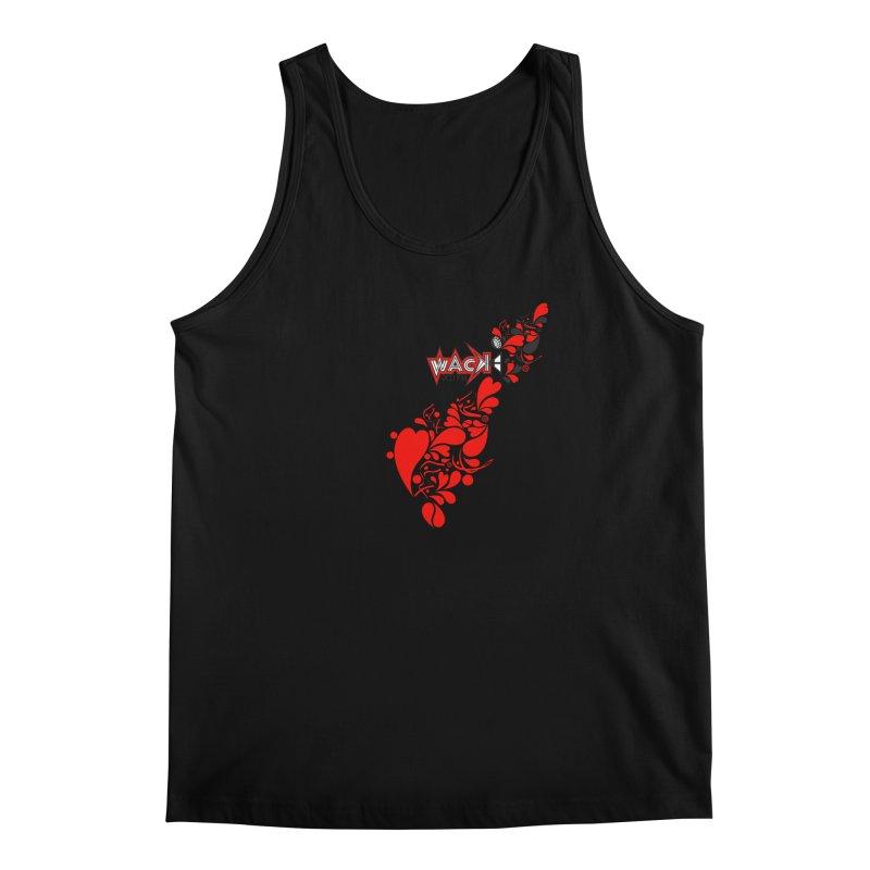 WACK 90.1fm Falling in Love - All Hearts and WACK Logo Men's Tank by WACK 90.1fm Merchandise Store