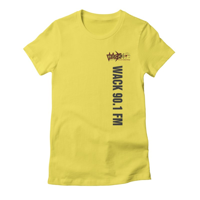 Carnival 2019 Apparel in Women's Fitted T-Shirt Vibrant Yellow by WACK 90.1fm Merchandise Store