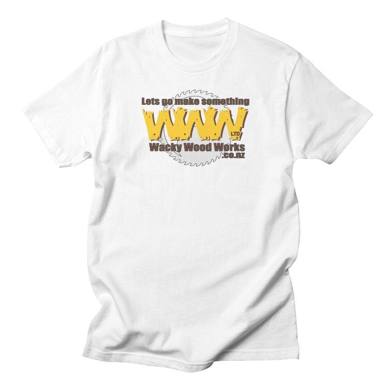 Logo Men's T-Shirt by Wacky Wood Works's Shop
