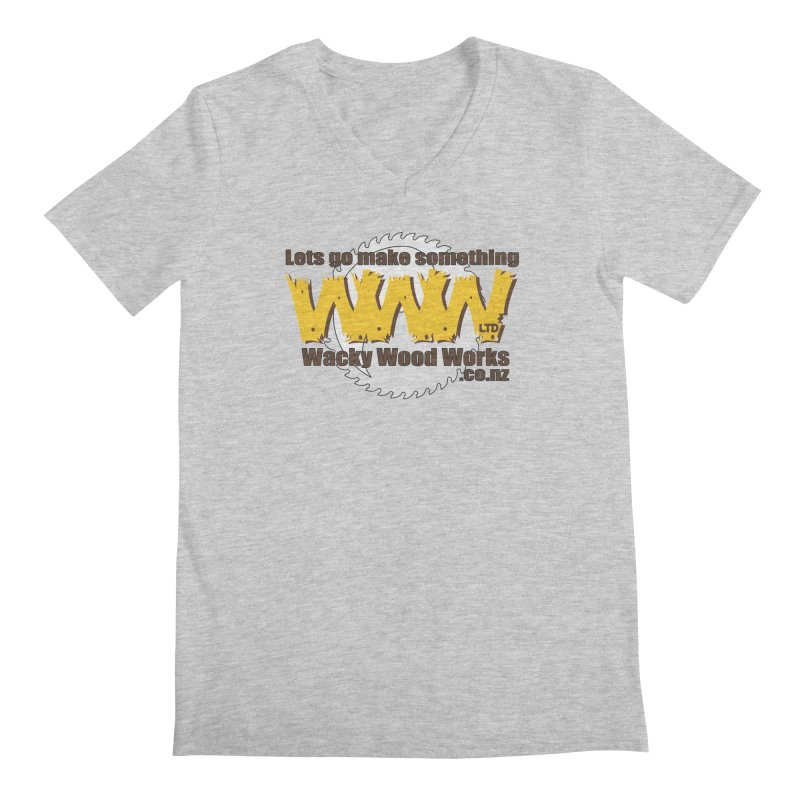 Logo Men's V-Neck by Wacky Wood Works's Shop