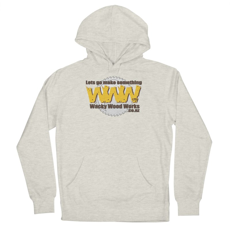 Logo Women's French Terry Pullover Hoody by Wacky Wood Works's Shop
