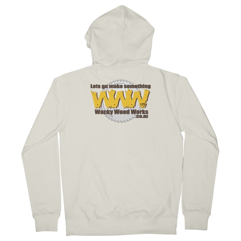 Logo Women's Zip-Up Hoody by Wacky Wood Works's Shop