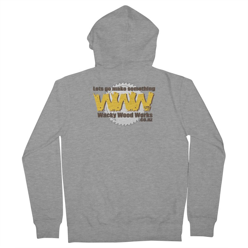 Logo Men's French Terry Zip-Up Hoody by Wacky Wood Works's Shop
