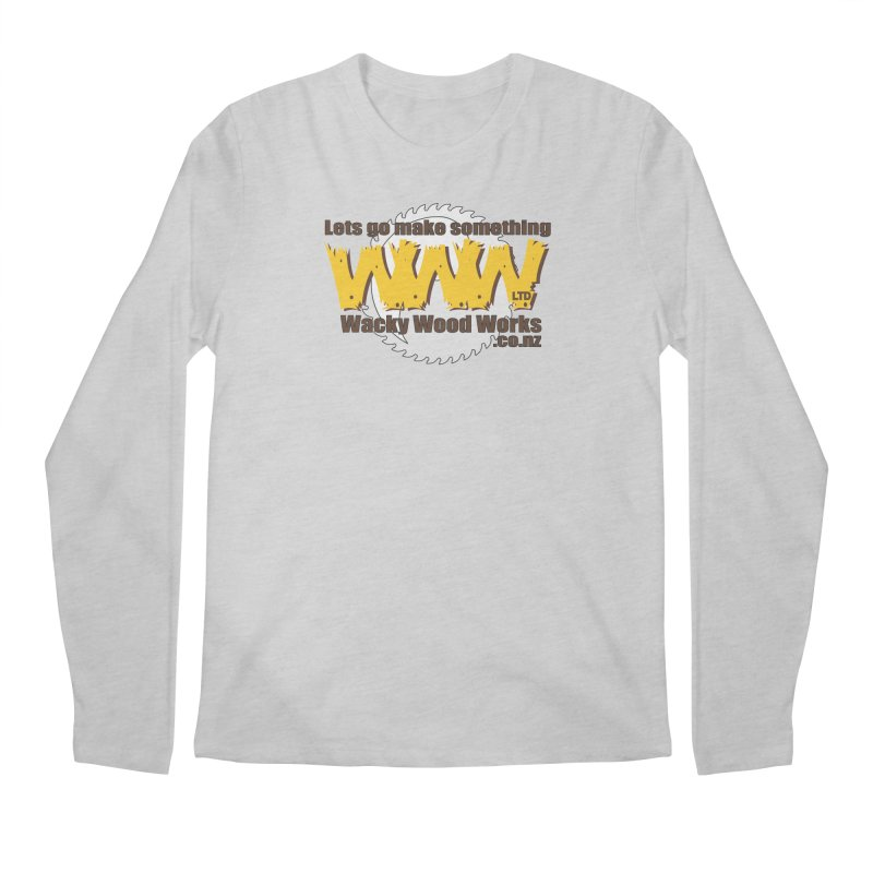 Logo Men's Regular Longsleeve T-Shirt by Wacky Wood Works's Shop