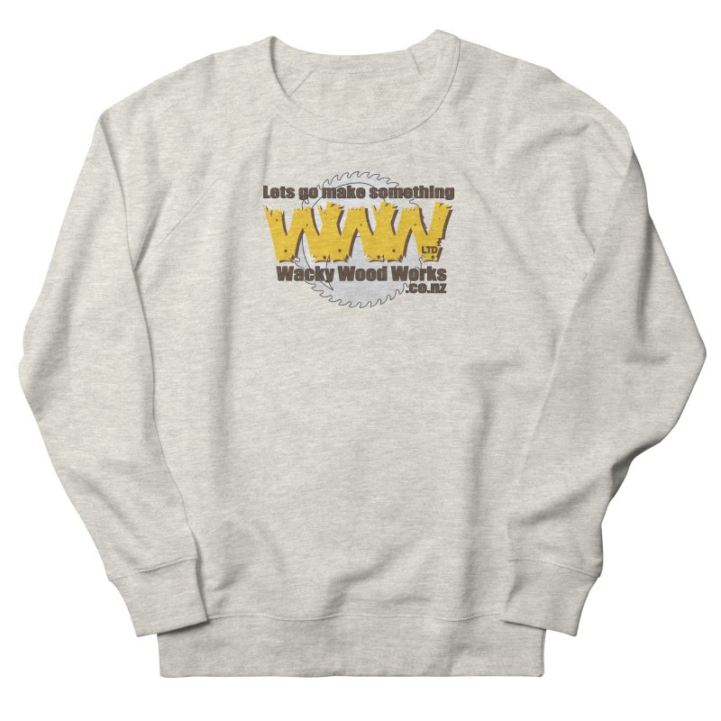 Logo Women's French Terry Sweatshirt by Wacky Wood Works's Shop
