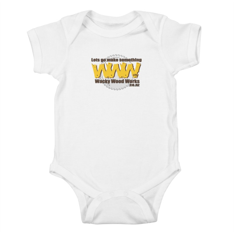 Logo Kids Baby Bodysuit by Wacky Wood Works's Shop