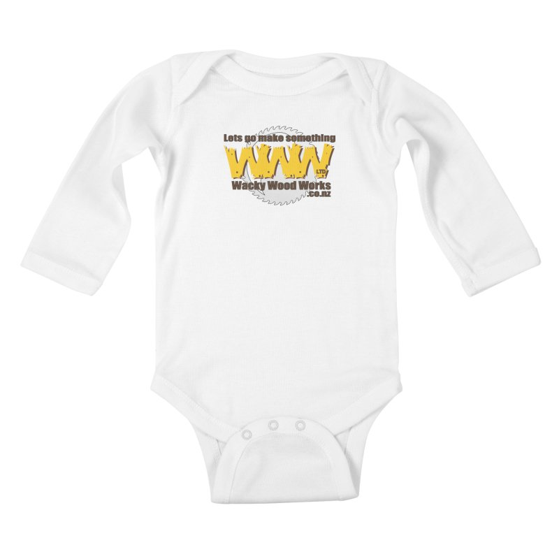 Logo Kids Baby Longsleeve Bodysuit by Wacky Wood Works's Shop