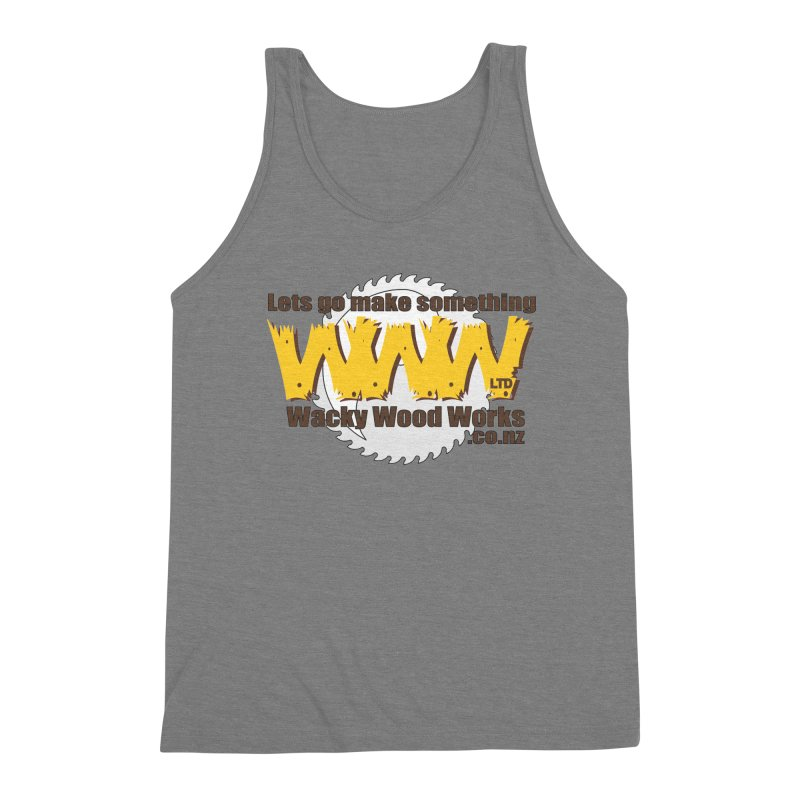 Logo Men's Triblend Tank by Wacky Wood Works's Shop