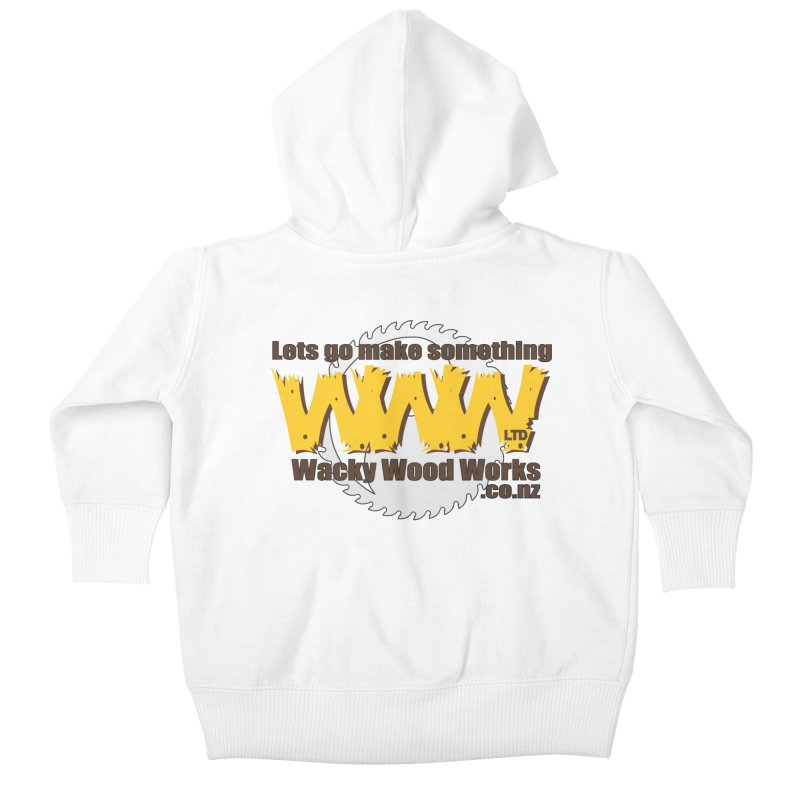 Logo Kids Baby Zip-Up Hoody by Wacky Wood Works's Shop