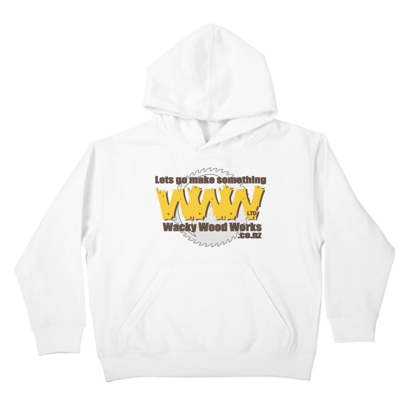 Logo Kids Pullover Hoody by Wacky Wood Works's Shop