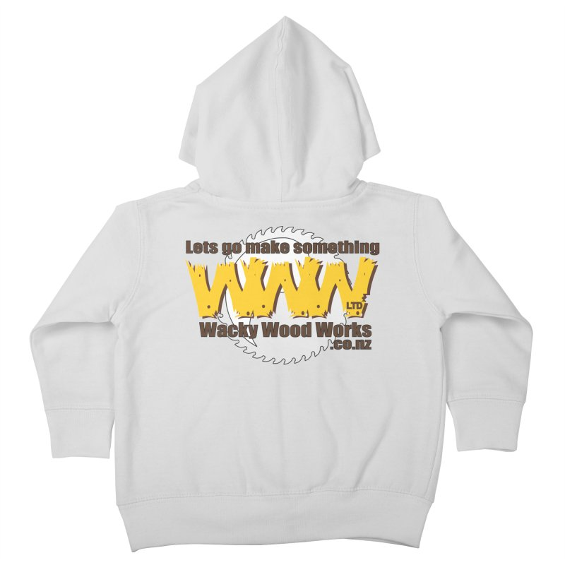 Logo Kids Toddler Zip-Up Hoody by Wacky Wood Works's Shop