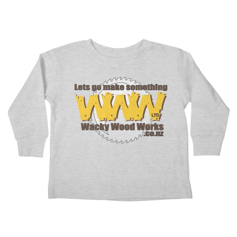 Logo Kids Toddler Longsleeve T-Shirt by Wacky Wood Works's Shop
