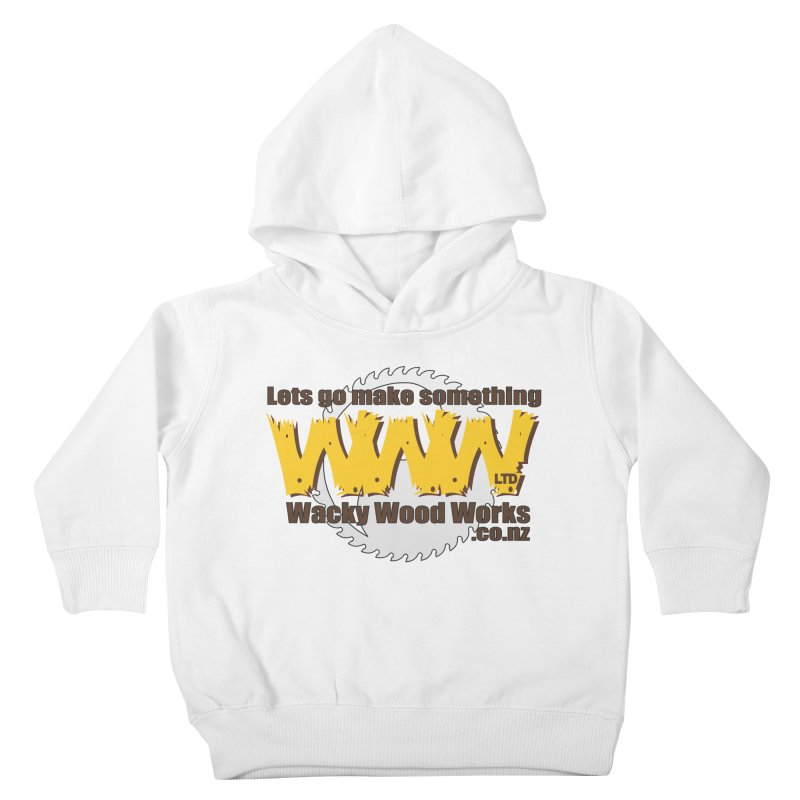 Logo Kids Toddler Pullover Hoody by Wacky Wood Works's Shop