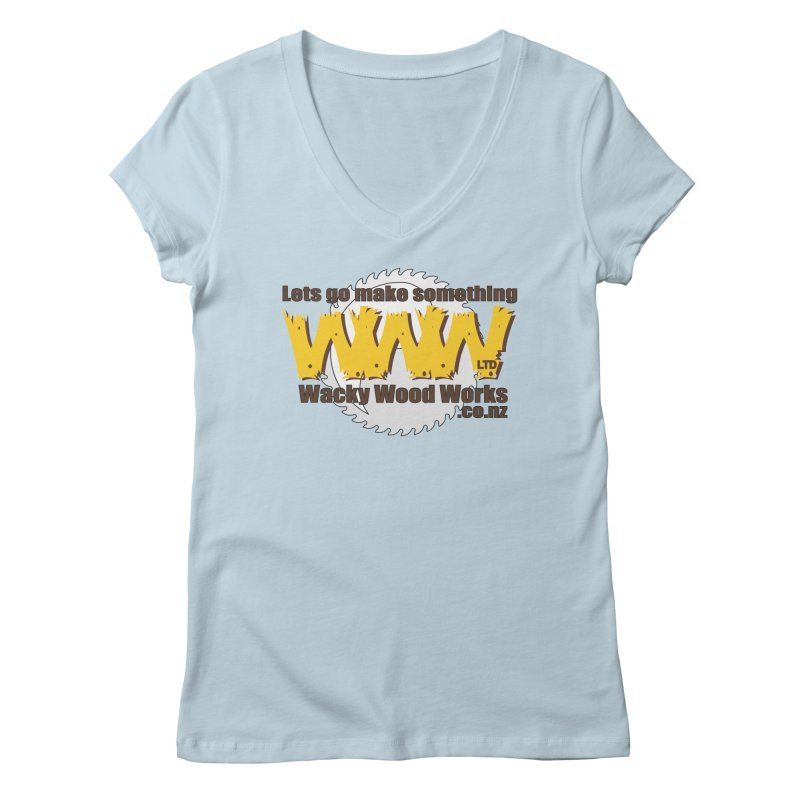 Logo Women's V-Neck by Wacky Wood Works's Shop