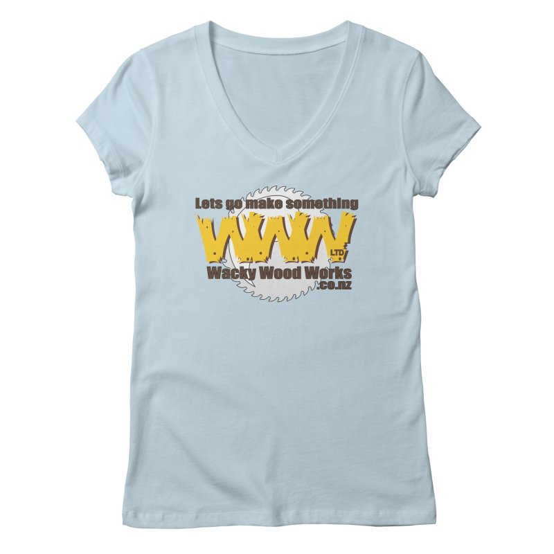 Logo Women's Regular V-Neck by Wacky Wood Works's Shop