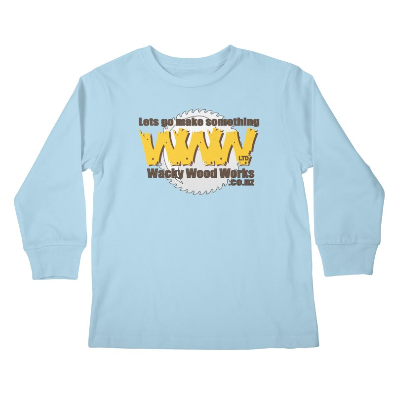 Logo Kids Longsleeve T-Shirt by Wacky Wood Works's Shop