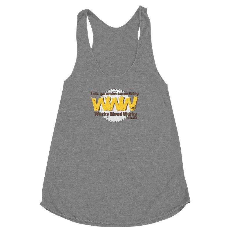 Logo Women's Racerback Triblend Tank by Wacky Wood Works's Shop