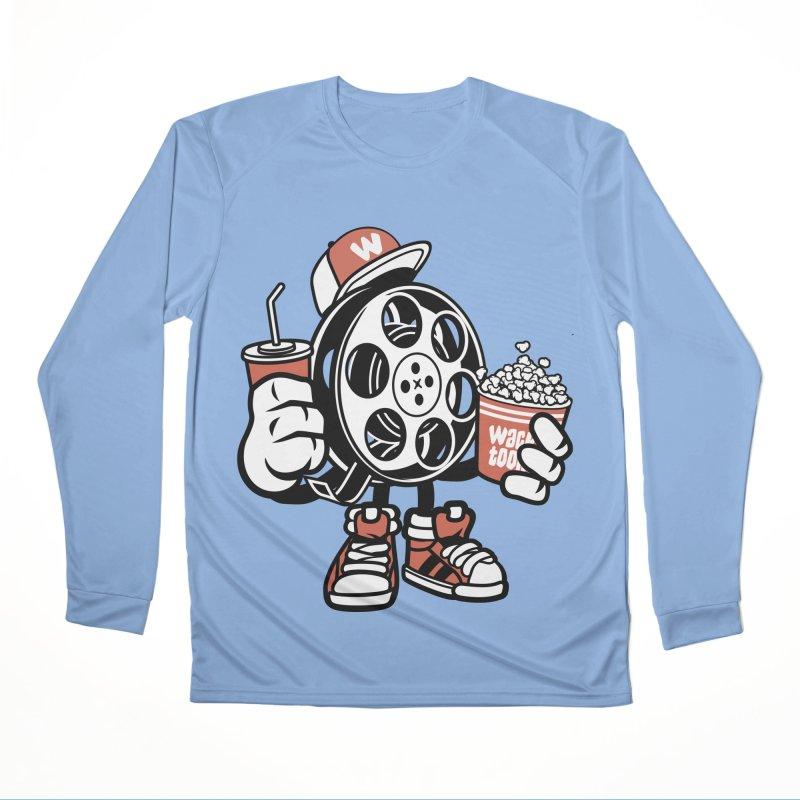 Movie Night Men's Performance Longsleeve T-Shirt by WackyToonz