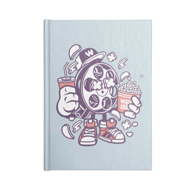 Movie Night Accessories Blank Journal Notebook by WackyToonz
