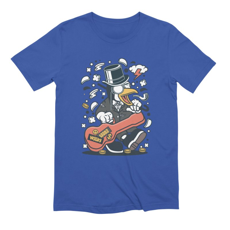 Penguin Guitarist Men's T-Shirt by WackyToonz