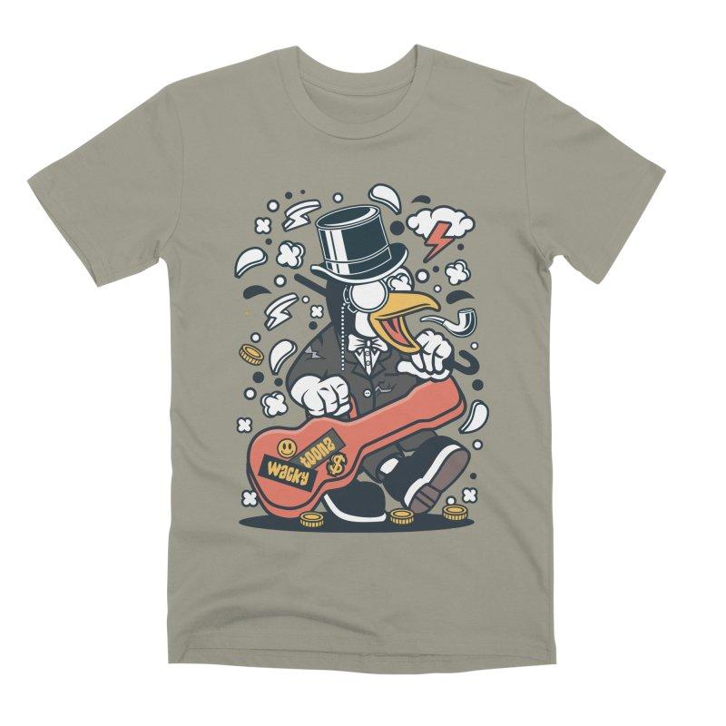 Penguin Guitarist Men's Premium T-Shirt by WackyToonz