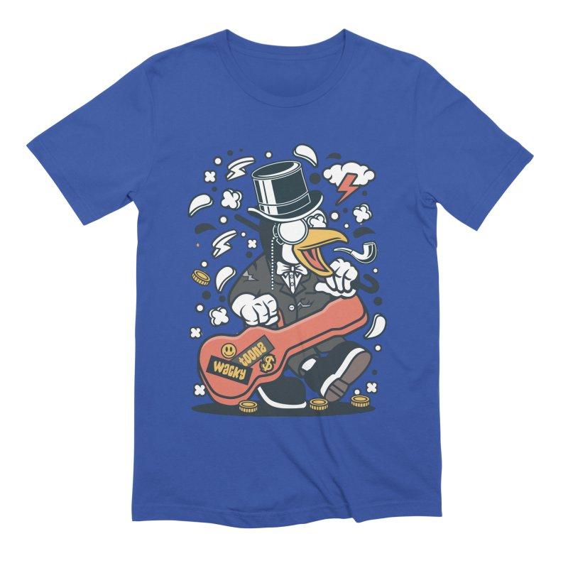 Penguin Guitarist Men's Extra Soft T-Shirt by WackyToonz