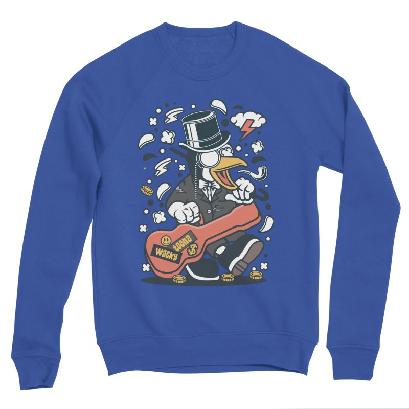 Penguin Guitarist Men's Sponge Fleece Sweatshirt by WackyToonz