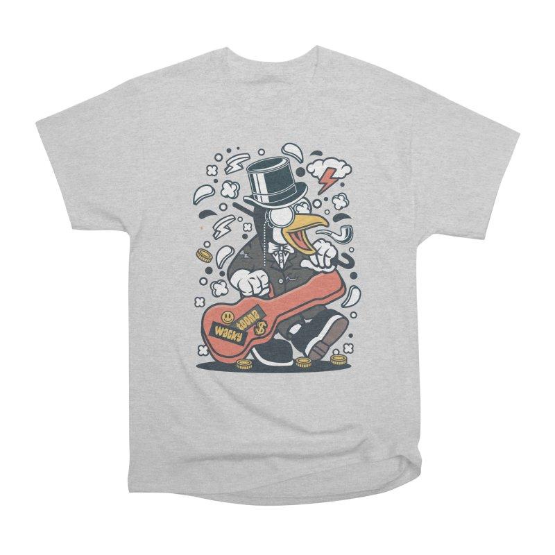 Penguin Guitarist Women's Heavyweight Unisex T-Shirt by WackyToonz