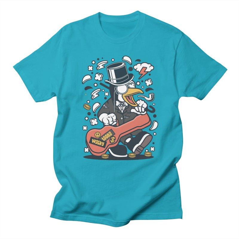 Penguin Guitarist Women's Regular Unisex T-Shirt by WackyToonz
