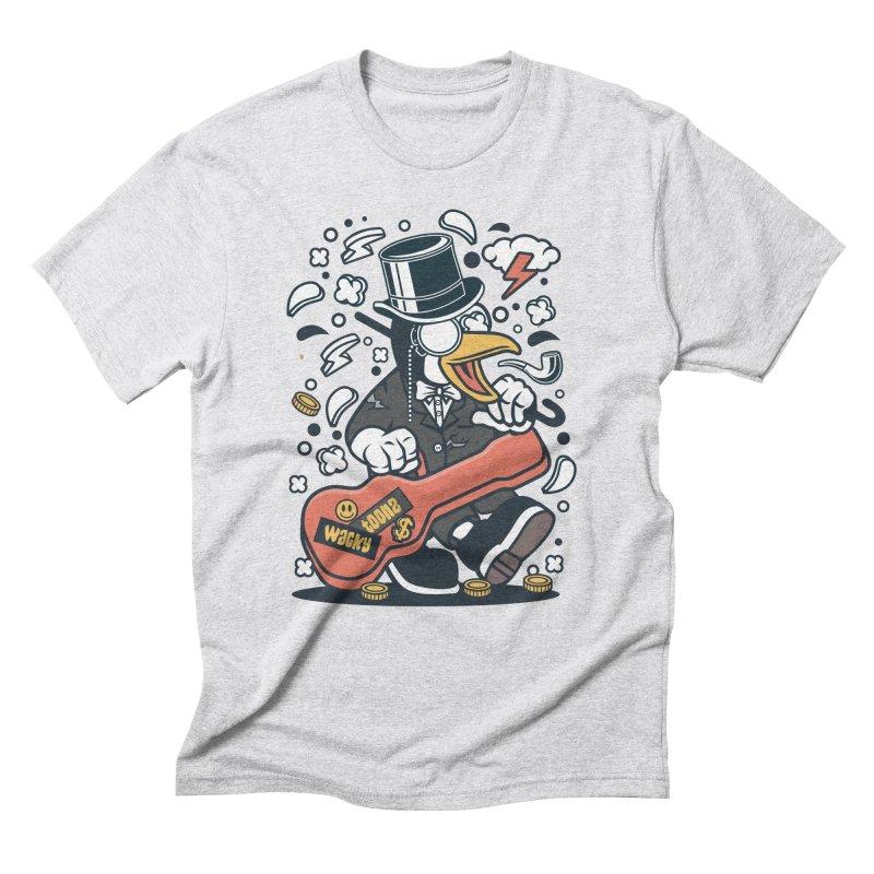 Penguin Guitarist Men's Triblend T-Shirt by WackyToonz