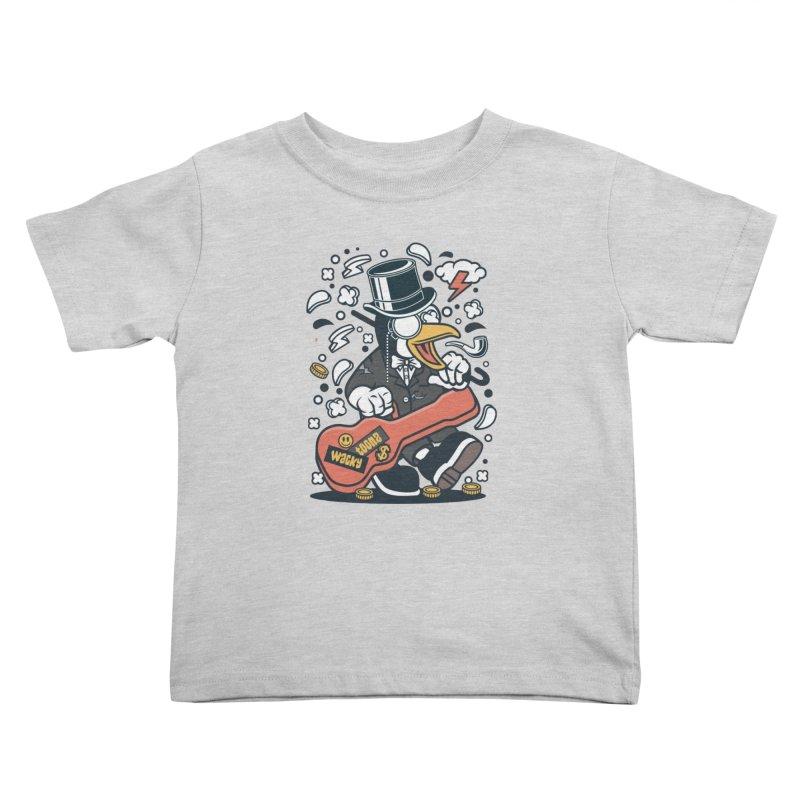Penguin Guitarist Kids Toddler T-Shirt by WackyToonz