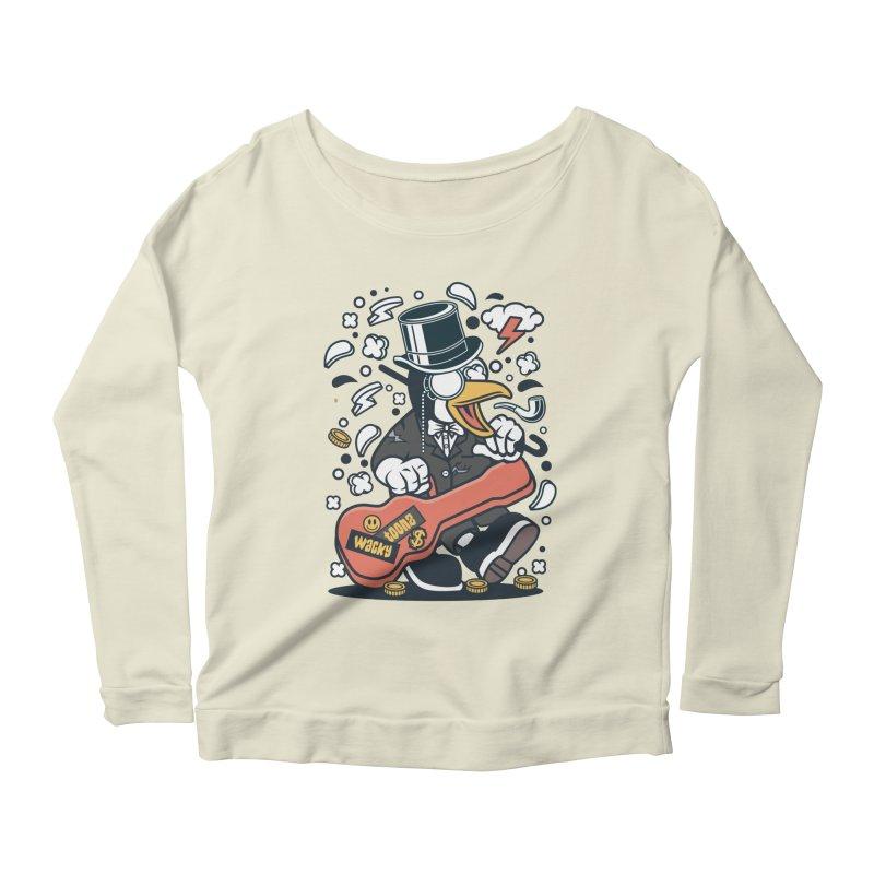 Penguin Guitarist Women's Scoop Neck Longsleeve T-Shirt by WackyToonz