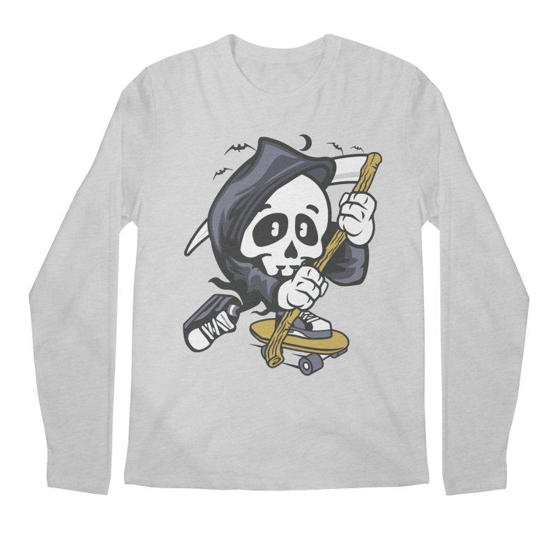 Skate Or Die Men's Longsleeve T-Shirt by WackyToonz