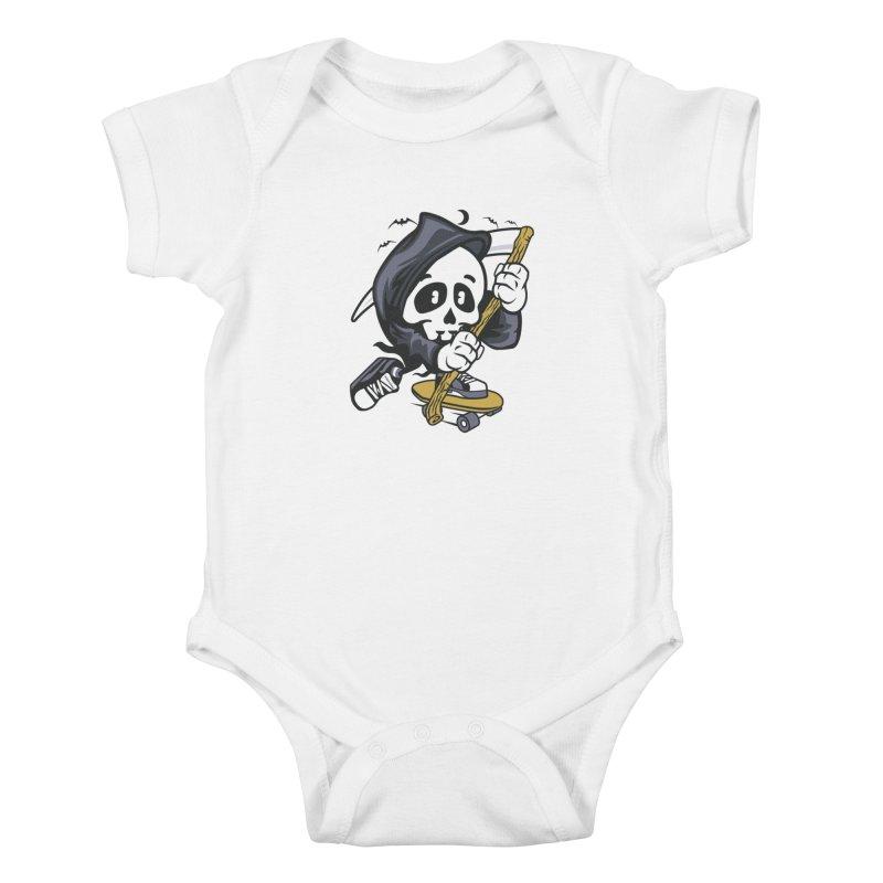Skate Or Die Kids Baby Bodysuit by WackyToonz