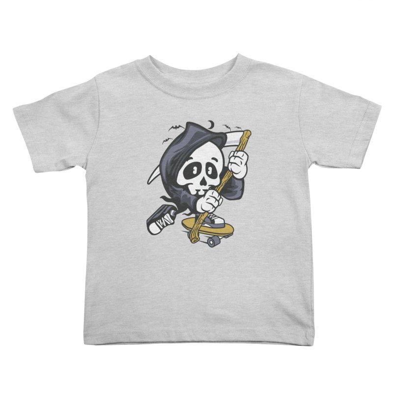 Skate Or Die Kids Toddler T-Shirt by WackyToonz