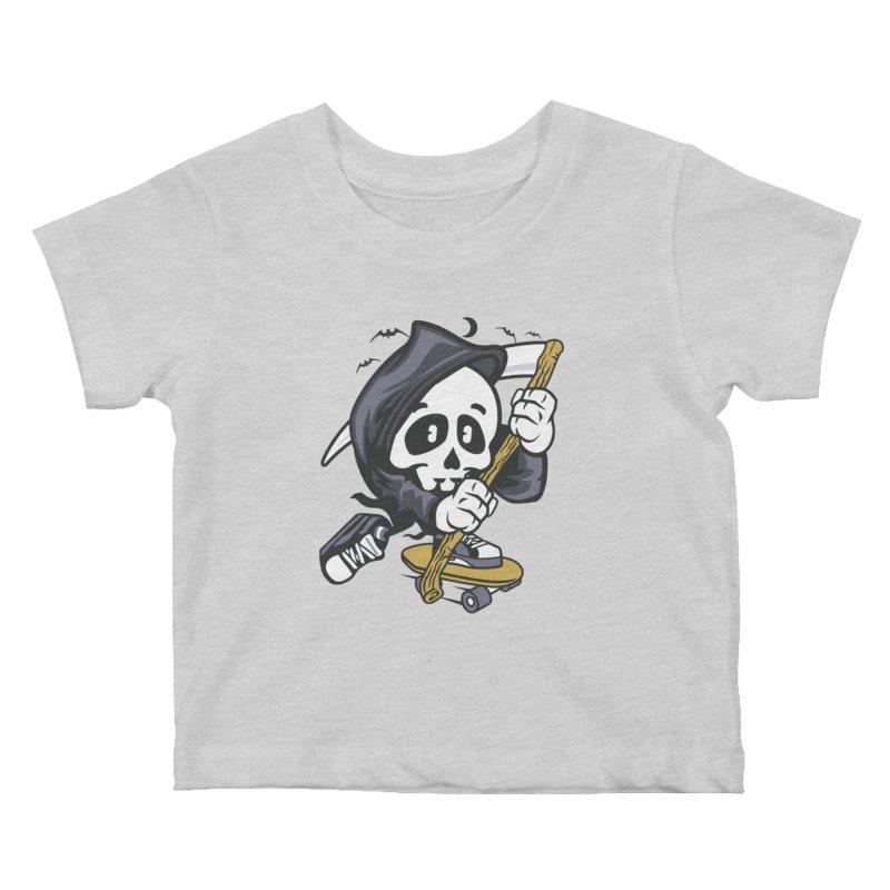 Skate Or Die Kids Baby T-Shirt by WackyToonz