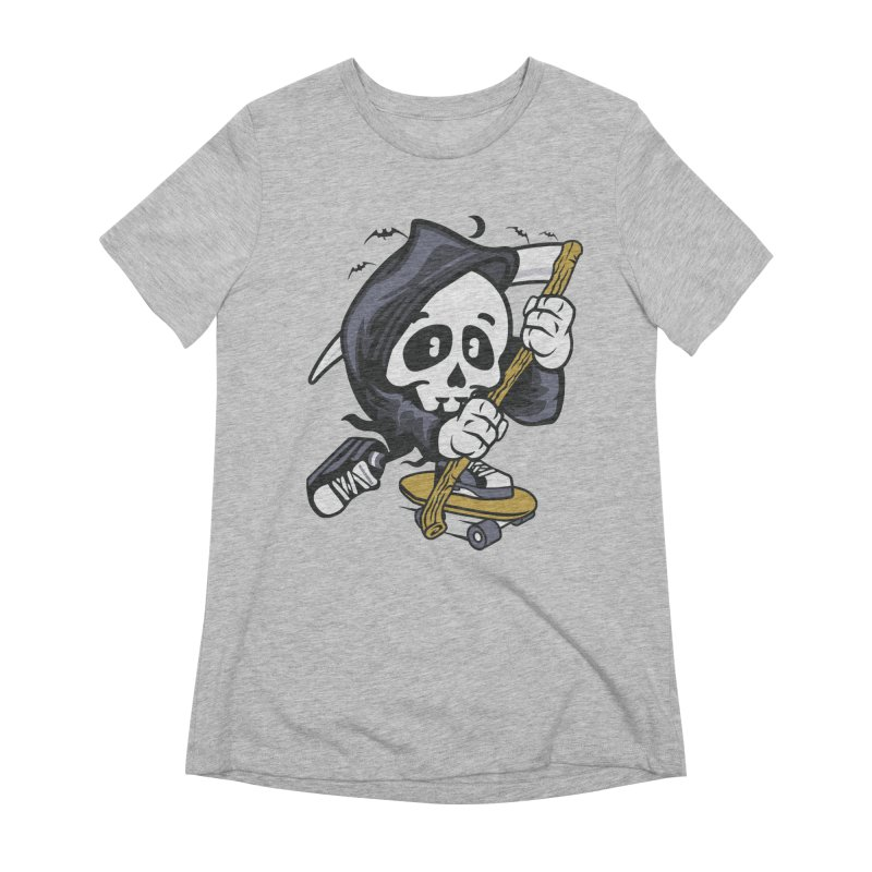 Skate Or Die Women's T-Shirt by WackyToonz