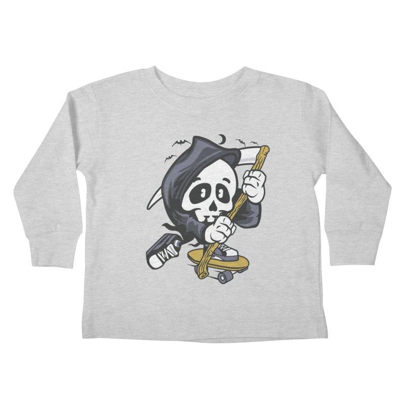 Skate Or Die Kids Toddler Longsleeve T-Shirt by WackyToonz