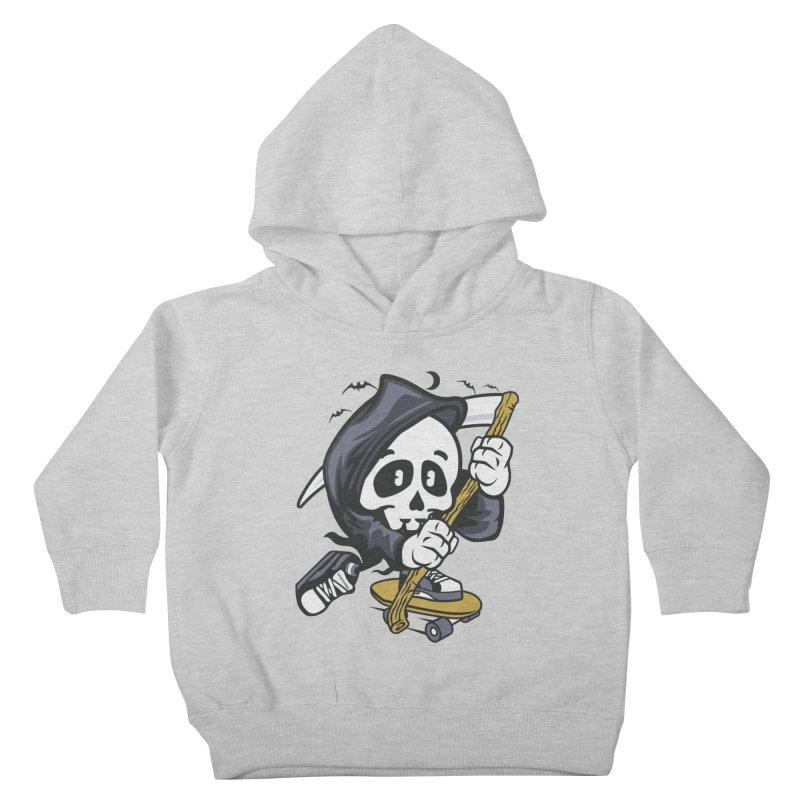 Skate Or Die Kids Toddler Pullover Hoody by WackyToonz