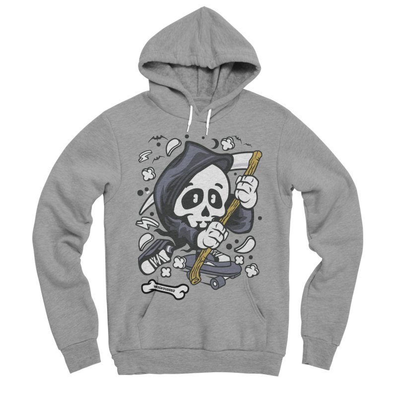 Skate Or Die Men's Sponge Fleece Pullover Hoody by WackyToonz