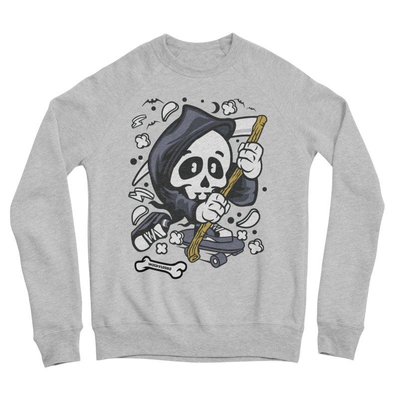Skate Or Die Women's Sponge Fleece Sweatshirt by WackyToonz