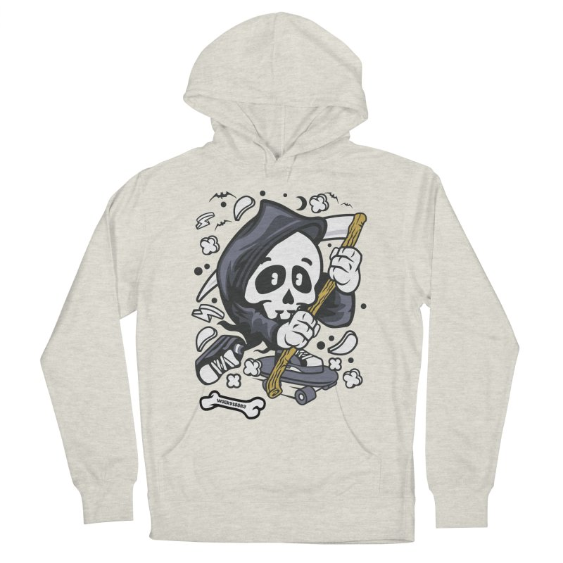 Skate Or Die Women's French Terry Pullover Hoody by WackyToonz