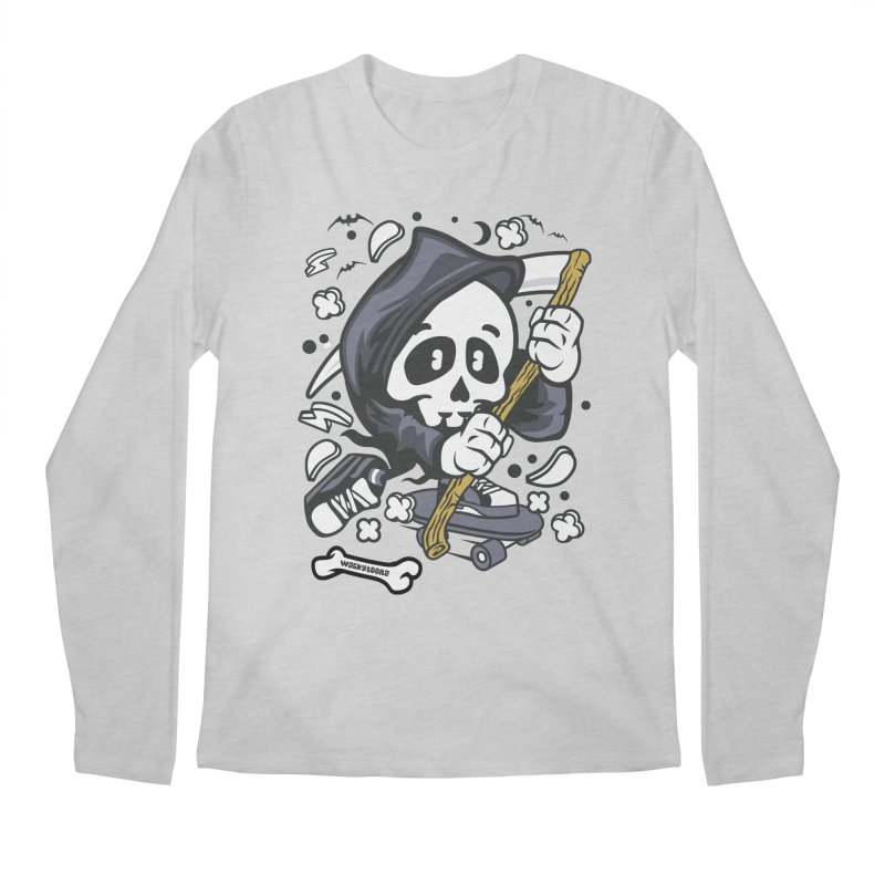 Skate Or Die Men's Regular Longsleeve T-Shirt by WackyToonz